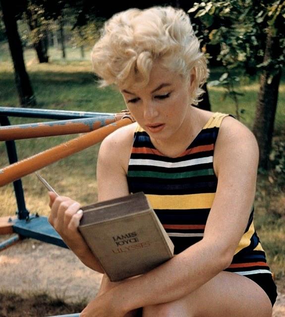Marilyn Monroe reading Ulysses by James Joyce