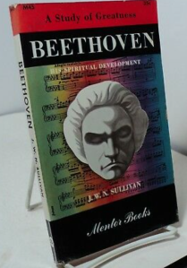 Beethoven his Spiritual Development book by J.W.N. Sullivan, the same edition as the book Marilyn Monroe owned