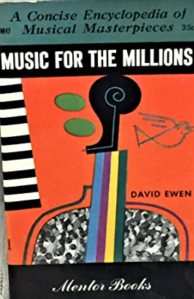 Music for the Millions book by David Ewen, the same edition as the book Marilyn Monroe owned