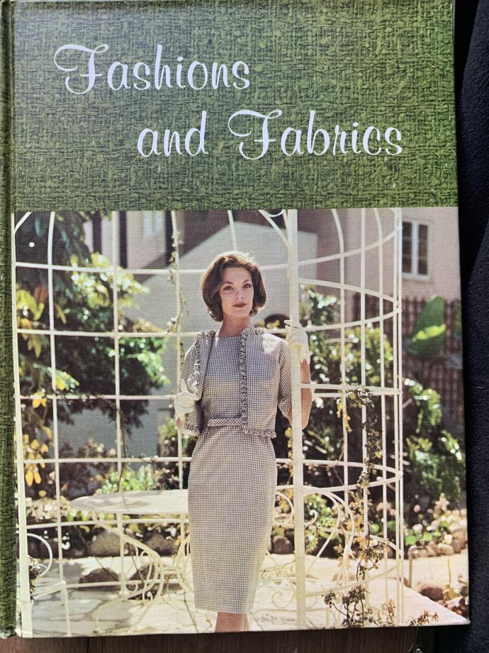 Fashions and Fabrics vintage textbook with capsule wardrobe.
